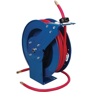 3/8  x 50 Ft Retractable Air Hose Reel with Hose  sc 1 st  TP Tools & 3/8