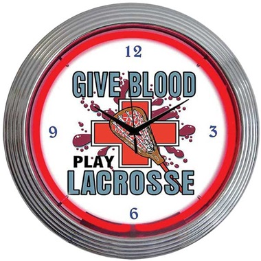 Lacrosse Neon Wall Clock