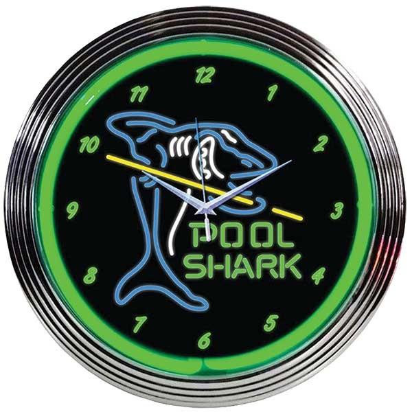 Pool Shark Neon Wall Clock