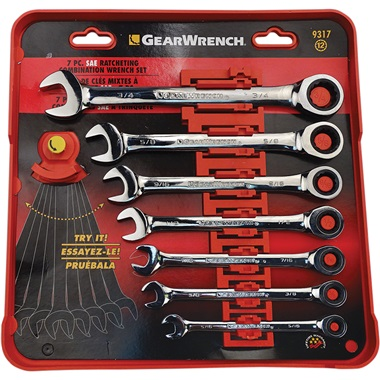 GEARWRENCH® 7-Pc SAE Ratcheting Wrench Set