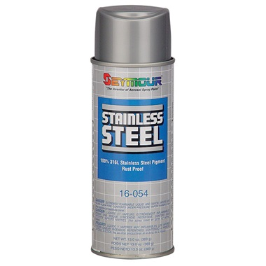 Seymour stainless steel restoration paint 13 oz tp for Remove paint from stainless steel