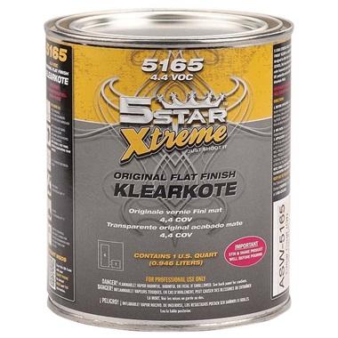 """5STAR® Xtreme """"Flat Finish"""" Klearkote, Qt"""