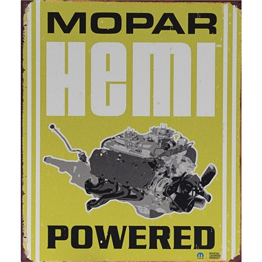 "Mopar Hemi Tin Sign - 12-1/2""W x 16""H"