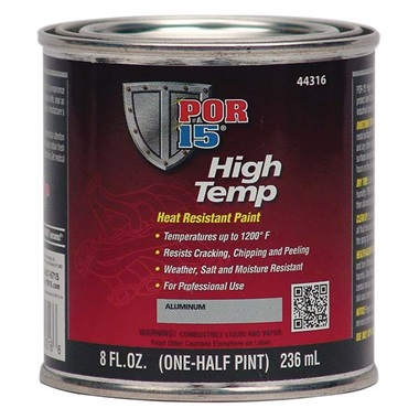 POR-15® High Temp Paint - Aluminum, Half Pint