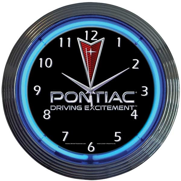 Pontiac Driving Excitement Neon Wall Clock