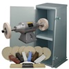 BALDOR® 3/4HP 2-Speed Buffer, Enclosed Buffer Cabinet Stand & Buffing Kit