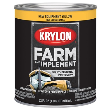 Krylon® Farm & Implement Paint - New Equipment Cat Yellow, Qt