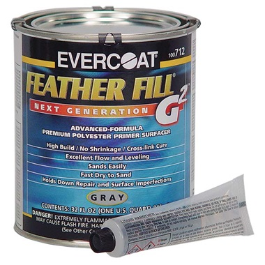 Evercoat® Feather Fill® G2™ Polyester Primer (2K) - Gray, Qt