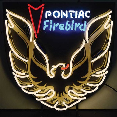 Pontiac Firebird Gold Neon Sign