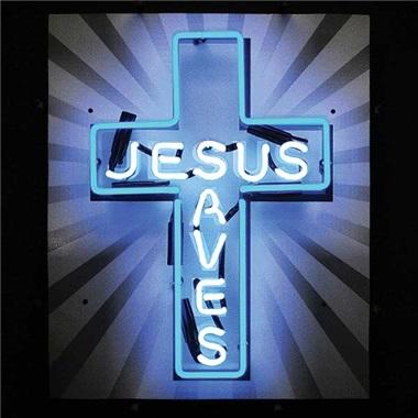 Jesus Saves Neon Sign