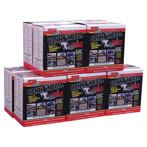 TP Tools® CANNONBALL® Truck Bed Liner/Protective Coating, Black - 10 Pk