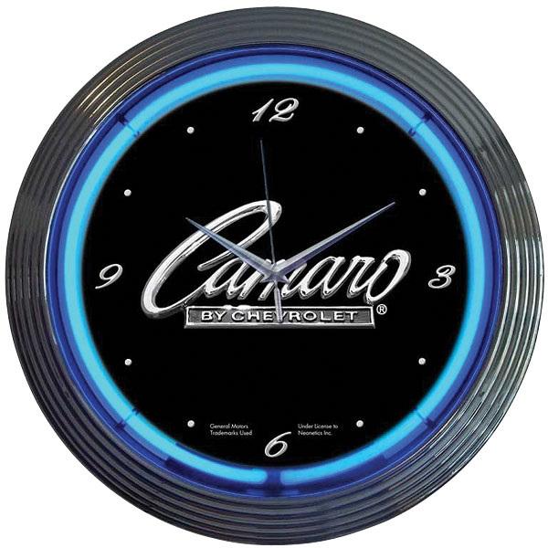 Camaro Script Neon Wall Clock