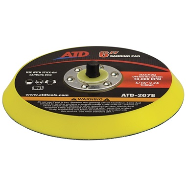 "6"" Dia D.A. Sander Vinyl-Faced Backing Pad"