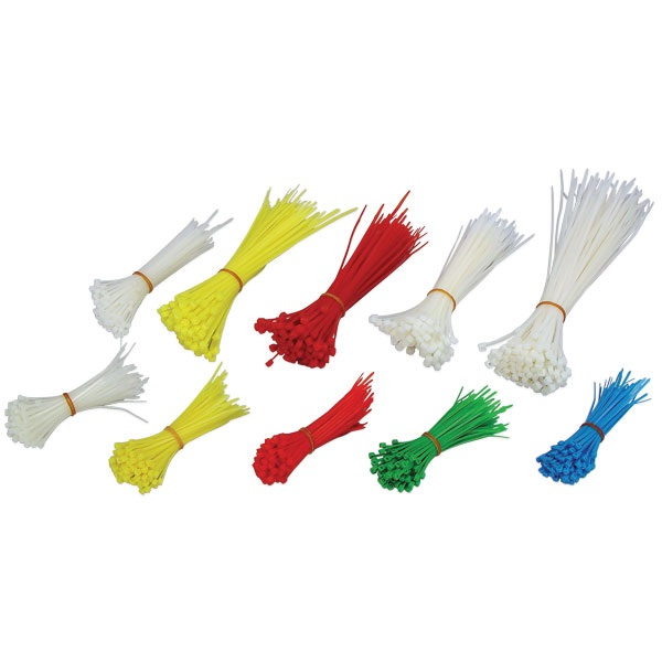 1,000-Pc Cable Ties Assortment