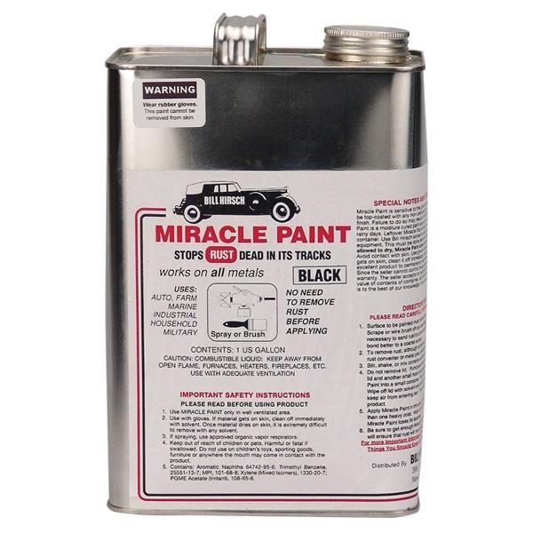 Bill Hirsch Miracle Paint - Gloss Black, Gallon