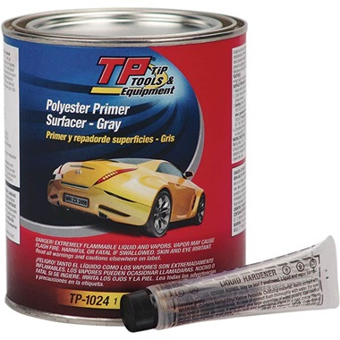 TP Tools® Polyester Filler Primer Surfacer (2K) - Gray, Qt