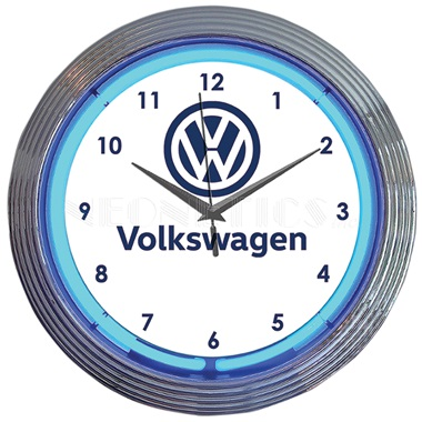 Volkswagen VW Neon Wall Clock
