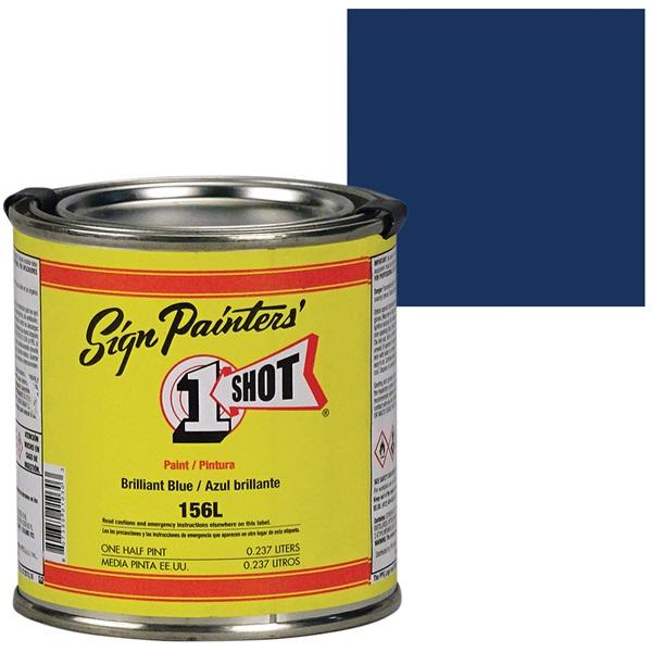 1 Shot® Lettering & Pinstripe Enamel Paint - Brilliant Blue