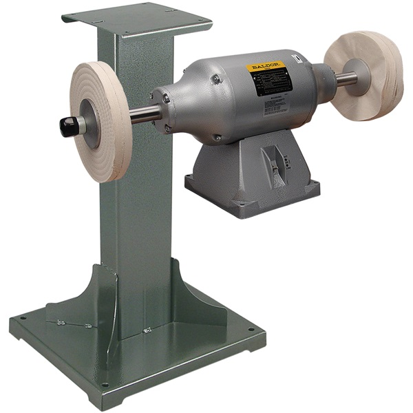 BALDOR® 3/4HP 2-Speed Buffer and 11 Gauge Steel Stand