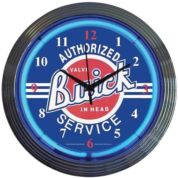Buick Service Neon Wall Clock