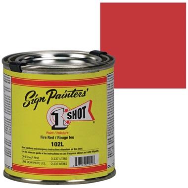 1 Shot® Lettering & Pinstripe Enamel Paint - Fire Red