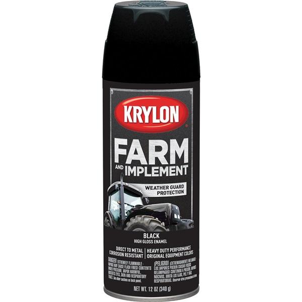 Krylon® Farm & Implement Paint - Gloss Black, 12 oz