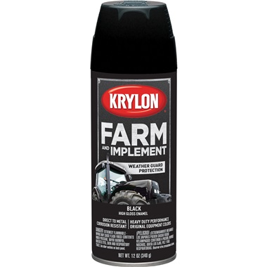 Krylon® Farm & Implement Paint - Gloss Black, 12 oz