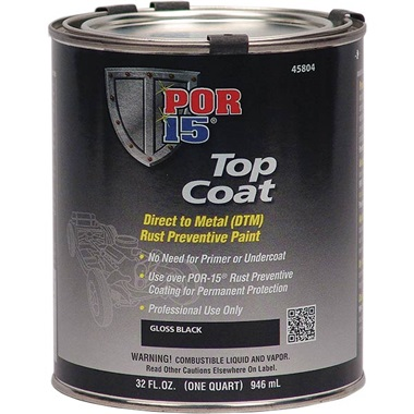 POR-15® Gloss Black Topcoat, Quart