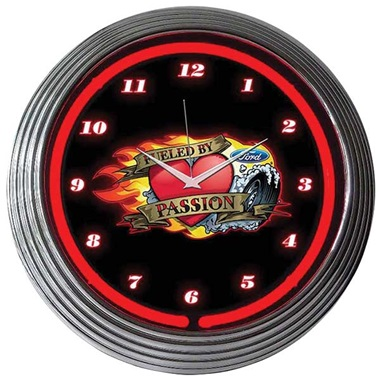 Ford Fueled by Passion Neon Wall Clock