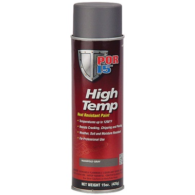 POR-15® High Temp Paint - Manifold Gray, 15 oz Spray