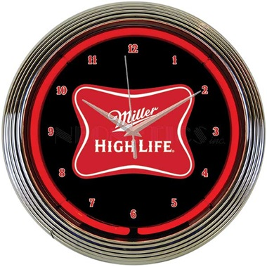Miller High Life Neon Wall Clock