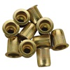 "5/16""-18 Zinc-Plated Steel Rivet Nuts - 10Pk"