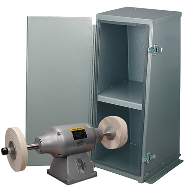 BALDOR® 3/4HP 2-Speed Buffer and Enclosed Buffer Cabinet Stand