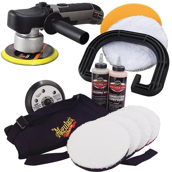 "ATD 6"" Random Orbital Polisher & Meguiar's® 6"" DA Paint Correction Polishing System Kit"