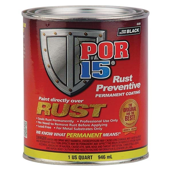 POR-15® Rust Preventive Paint - Semi-Gloss Black, Qt