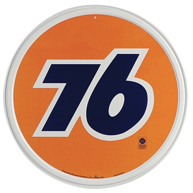 "Union 76 Tin Sign - 11-3/4"" Dia"