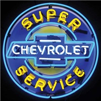 Super Chevrolet Service Neon Sign