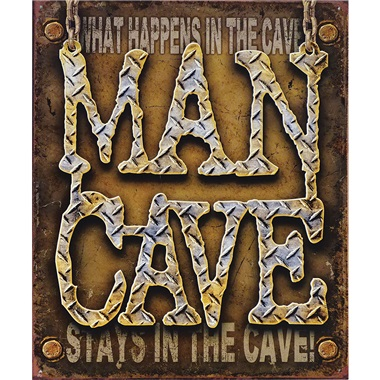 """Man Cave Tin Sign - 12-1/2""""W x 16""""H"""