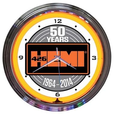 Hemi 50th Anniversary (Mopar) Neon Wall Clock