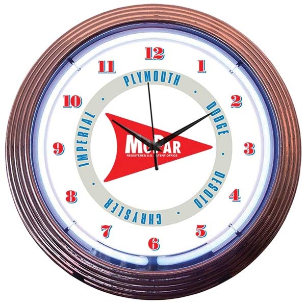 Mopar Arrow Neon Wall Clock