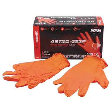 SAS® ASTRO-GRIP™ Disposable Nitrile Work Gloves, XL