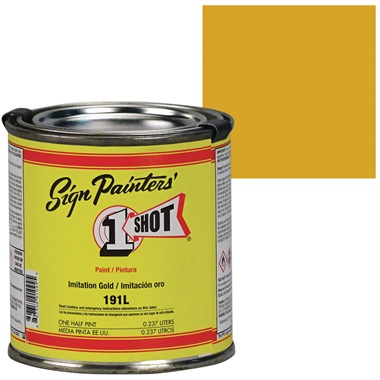 1 Shot® Lettering & Pinstripe Enamel Paint - Imitation Gold
