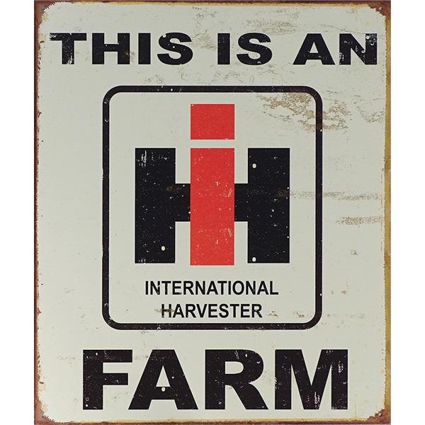 "Intl Harvester Farm Tin Sign - 12-1/2""W x 16""H"
