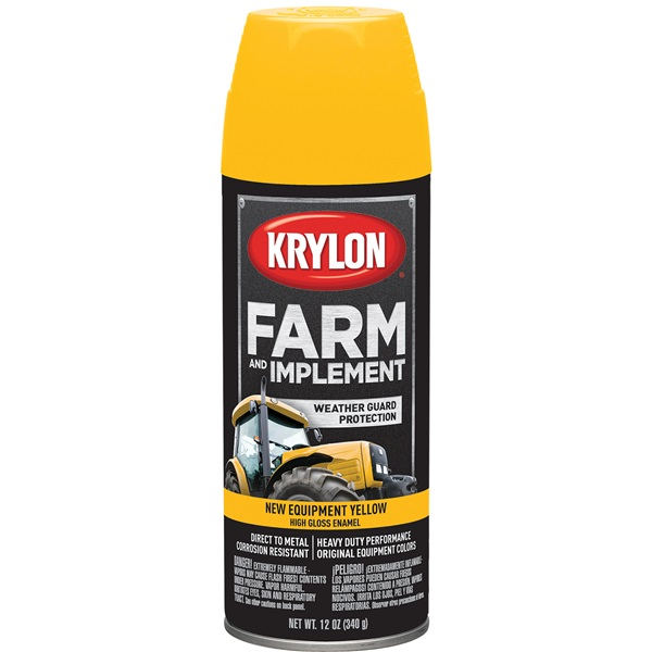 Krylon® Farm & Implement Paint - New Equipment Cat Yellow, 12 oz