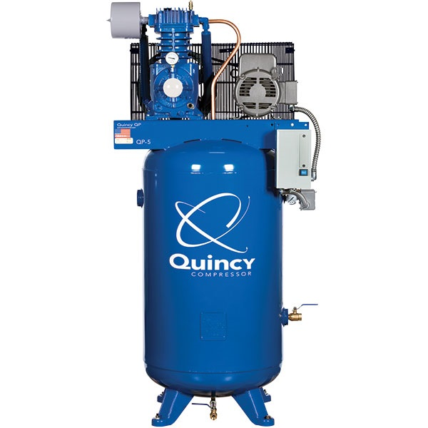 Quincy 5HP 2-Stage Pressure Lube Air Compressor