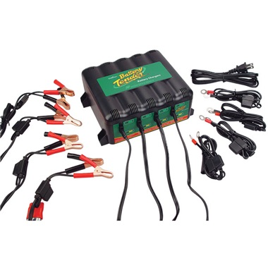12-Volt Battery Tender® 4-Bank Battery Charger