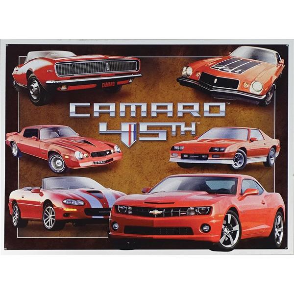 "Camaro - 45th Anniversary Tin Sign - 16""W x 12-1/2""H"