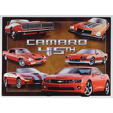 "Camaro - 45th Anniversary Tin Sign - 16""W x 12-1/2""H"
