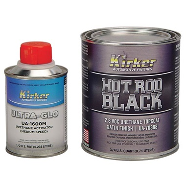 Kirker Hot Rod Black Satin Finish Urethane Topcoat 1 Qt Kit Tp