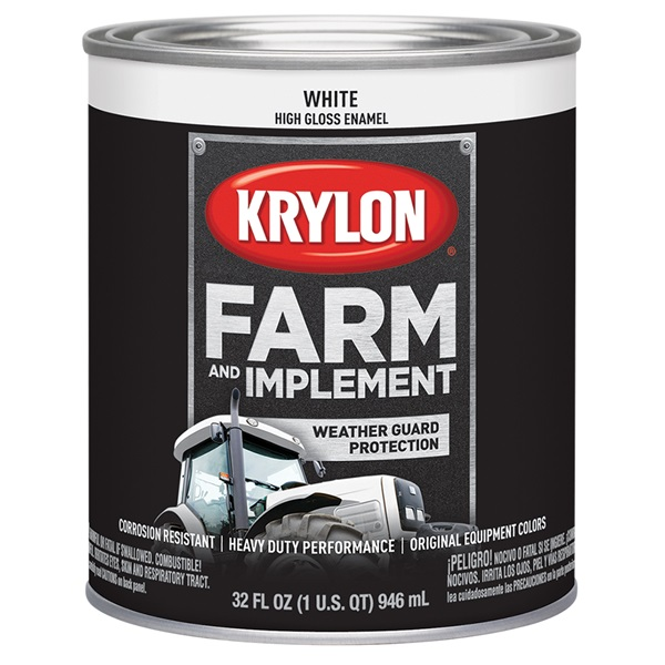 Krylon® Farm & Implement Paint - Gloss White, Qt